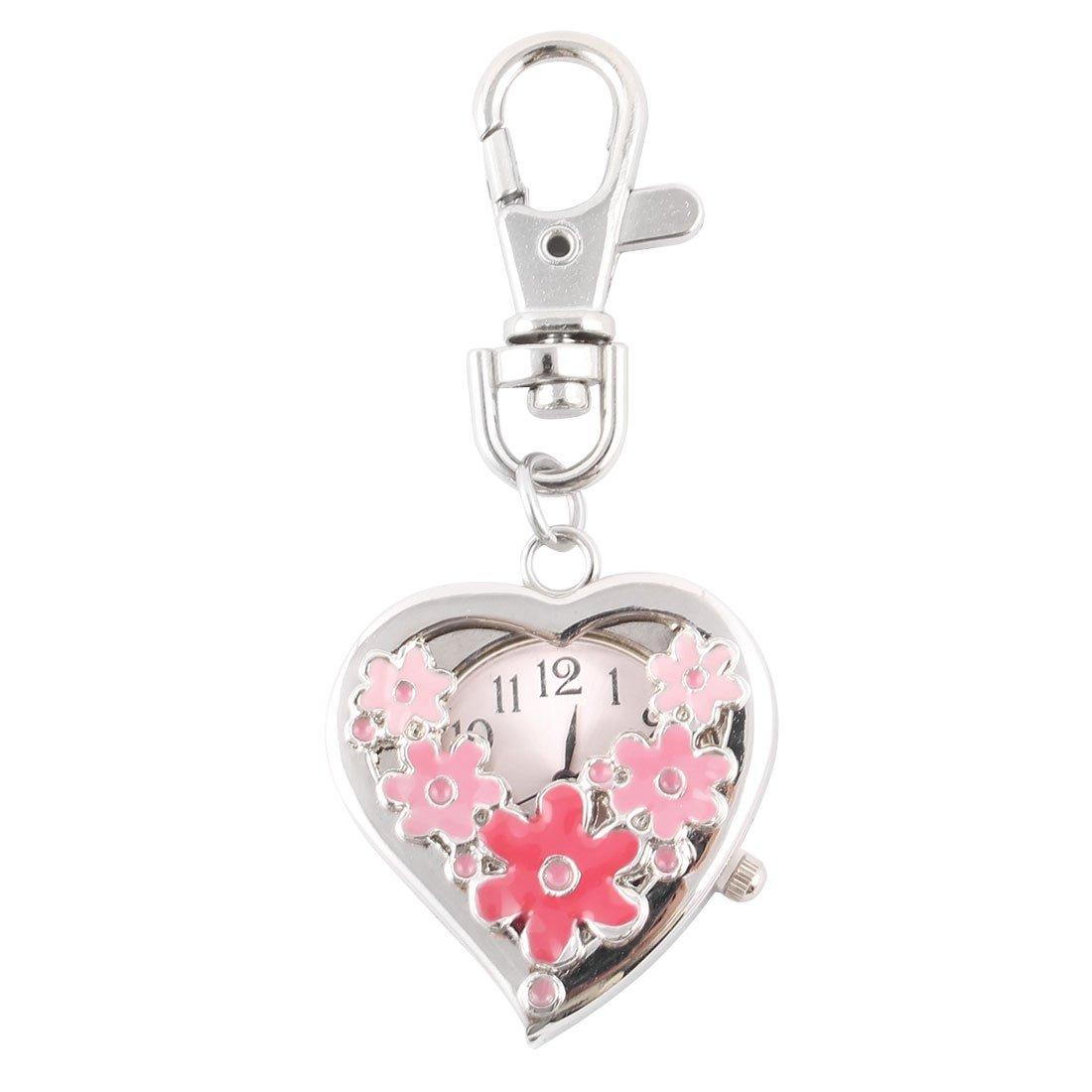 Amazon.com: Sweet Heart Patrón de flor colgante llavero ...