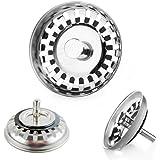 JZK (81~82 mm) Tappo filtro lavello scarico acciaio inox filtri per lavello della cucina lavandino fogna