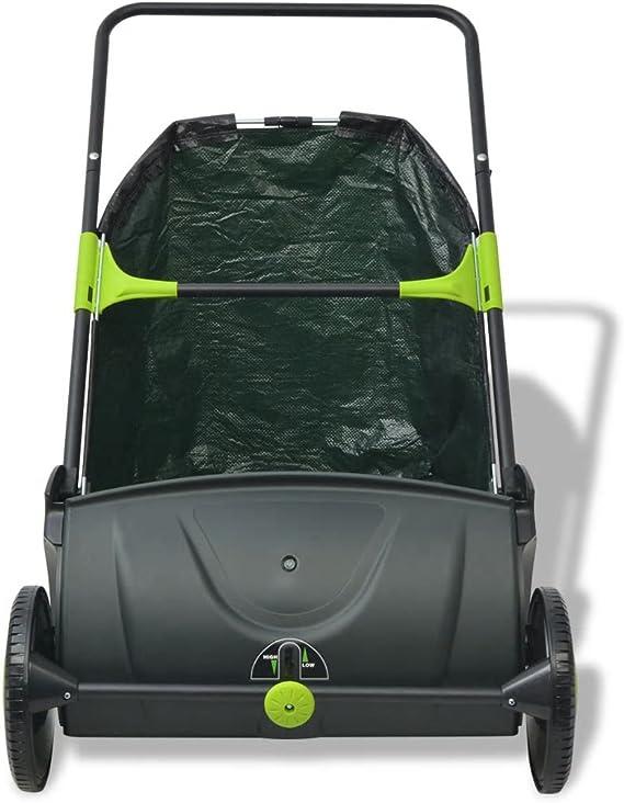 vidaXL Barredora Ligera de Jardín Bolsa de Basura 103 L Colores Negro y Verde: Amazon.es: Bricolaje y herramientas