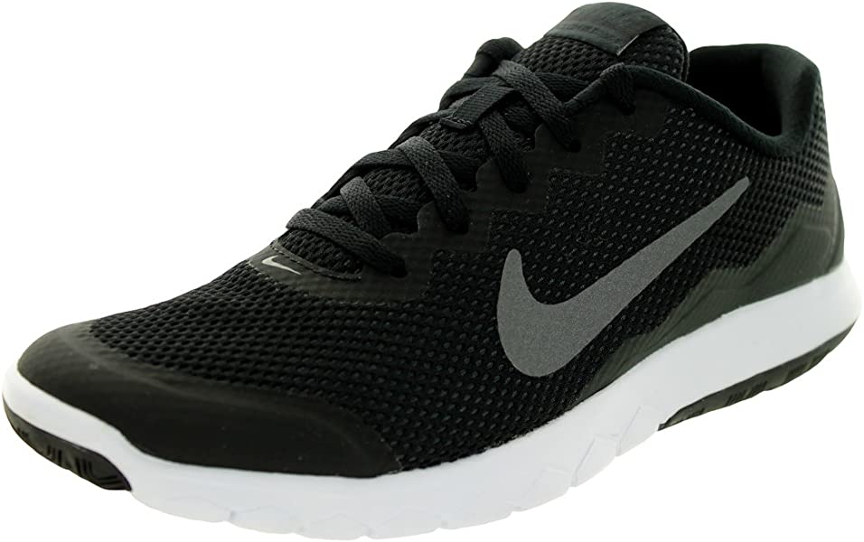 check out d75d1 1eb7d Amazon.com   Nike Men s Flex Experience RN 4 (Black Mtlc Drk Gry Anthracite  White) Running Shoe, 7 B(M) US   Road Running