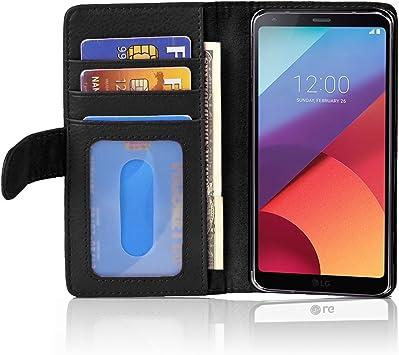 Cadorabo Funda Libro para LG G6 en Negro ÓXIDO – Cubierta ...