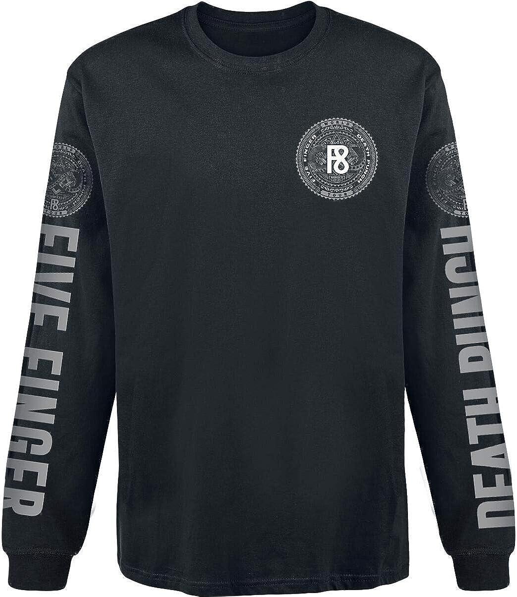 Regular Five Finger Death Punch F8 Men Long-Sleeve Shirt Black