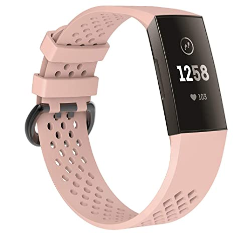 Cywulin Compatible para Fitbit Charge 3 Bandas, Silicona ...