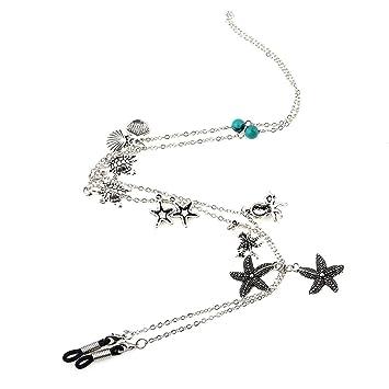 37300820cd547 Kesheng Cordon A Lunettes Antidérapant Chaîne Lunette Accessoire (étoile de  mer)