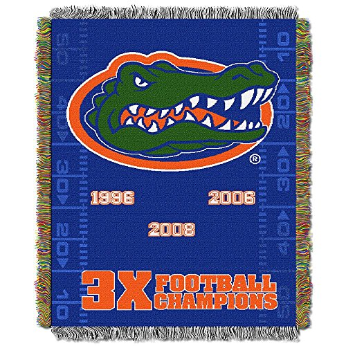 The Northwest Company Florida Gators Commemorative Woven Tapestry Throw Blanket