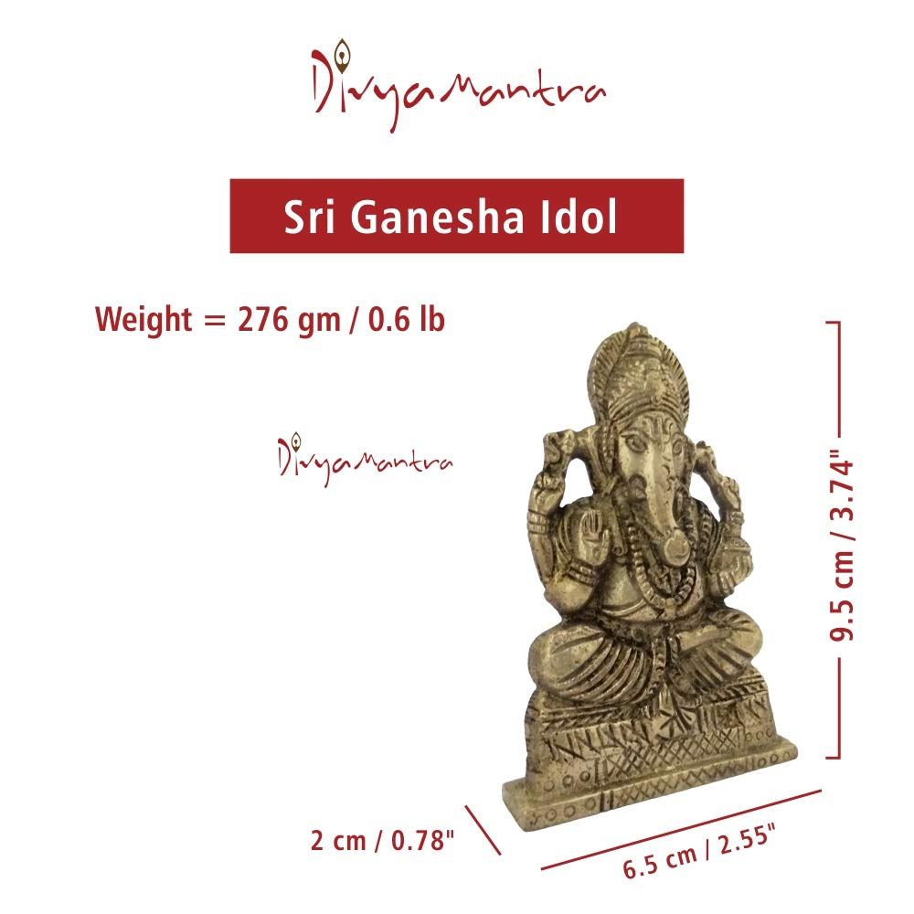 Amazon com: Divya Mantra Sri Hindu God Ganesha Ganpati Idol