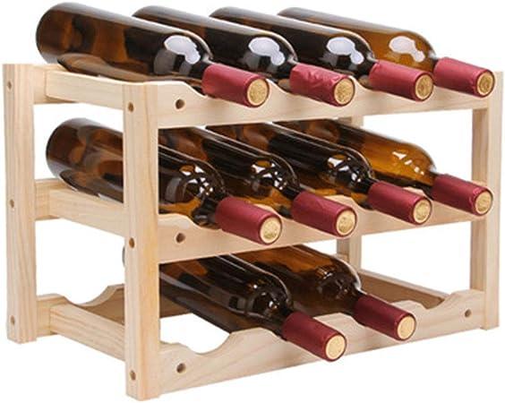 ZXX-wr Estante para Vinos De Madera Maciza De 12 Botellas, Decorado Individualmente, Casa única O Cocina Tallada A Mano En Hierro Forjado: Amazon.es: Hogar