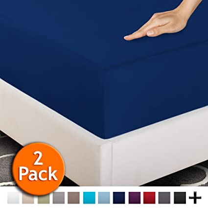 2 Twin XL Fitted Bed Sheets (2 Pack)   Twin Extra Long,