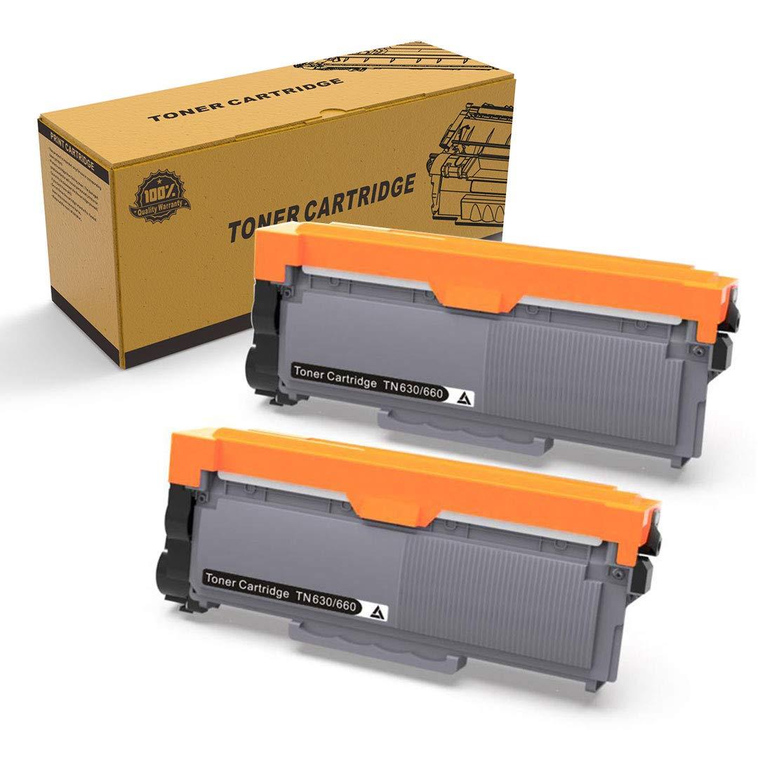 Compatible Toner Cartridge Replacement for Brother TN660 TN-660 TN630 TN-630 2-Pack High Yield Toner Cartridges for MFC-L2740DW MFC-L2700DW MFC-L2720DW HL-L2380DW HL-L2360DW HL-L2300D