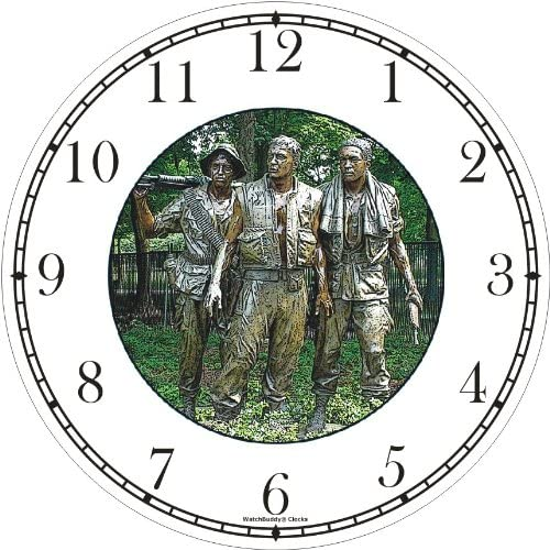 Vietnam Memorial – Washington DC – Famous Landmarks Wall Clock by WatchBuddy Timepieces Black Frame