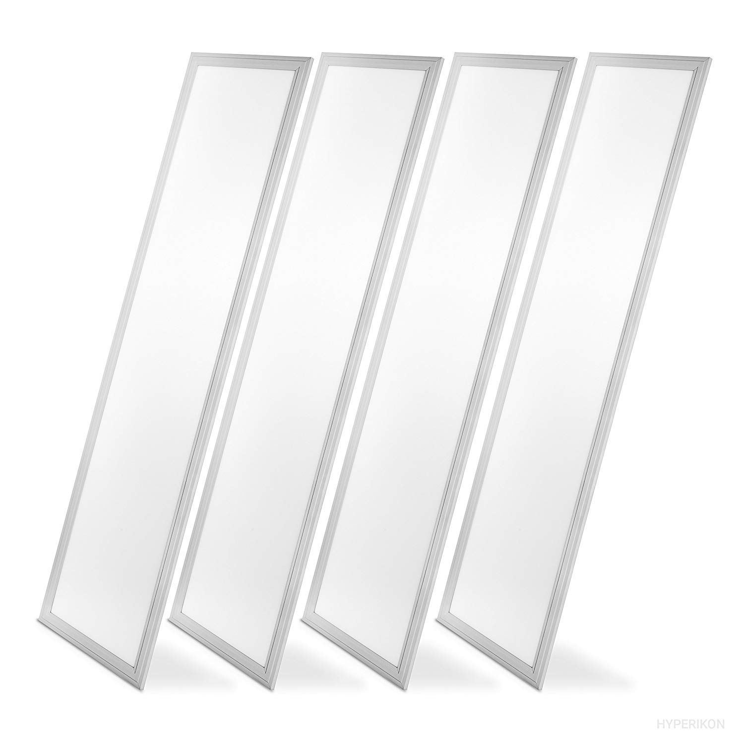 Hyperikon LED Troffer 1x4 Ft Panel Edge-Lit, Dimmable, 40W (100W Equivalency), 4000K Day Light, 4000 Lumens, Drop Ceiling Light, UL & DLC – Pack of 4