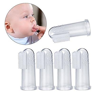 rosenice Baby de cepillo de dientes 5pcs mündliche dispositivo de masaje säugling dedos de dentición de