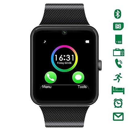 Uhren Herrenuhren Frauen Männer Sport Bluetooth Smart Uhr Armband Kamera Facebook Whatsapp Unterstützung Sim Tf Karte Anruf Smartwatch Für Android-handy