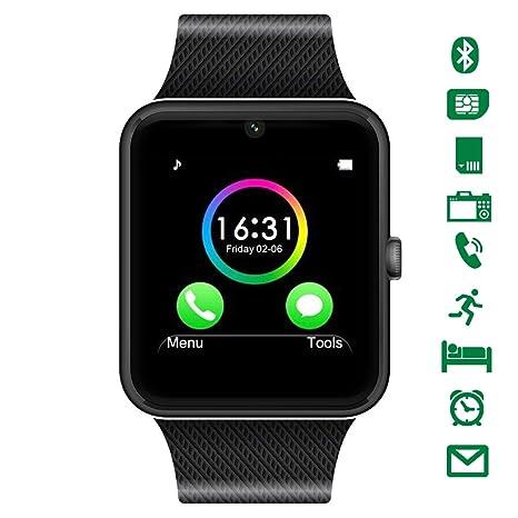 LATEC Reloj Inteligente de Pulsera, Smartwatch con Bluetooth, cámara, Ranura para SIM y