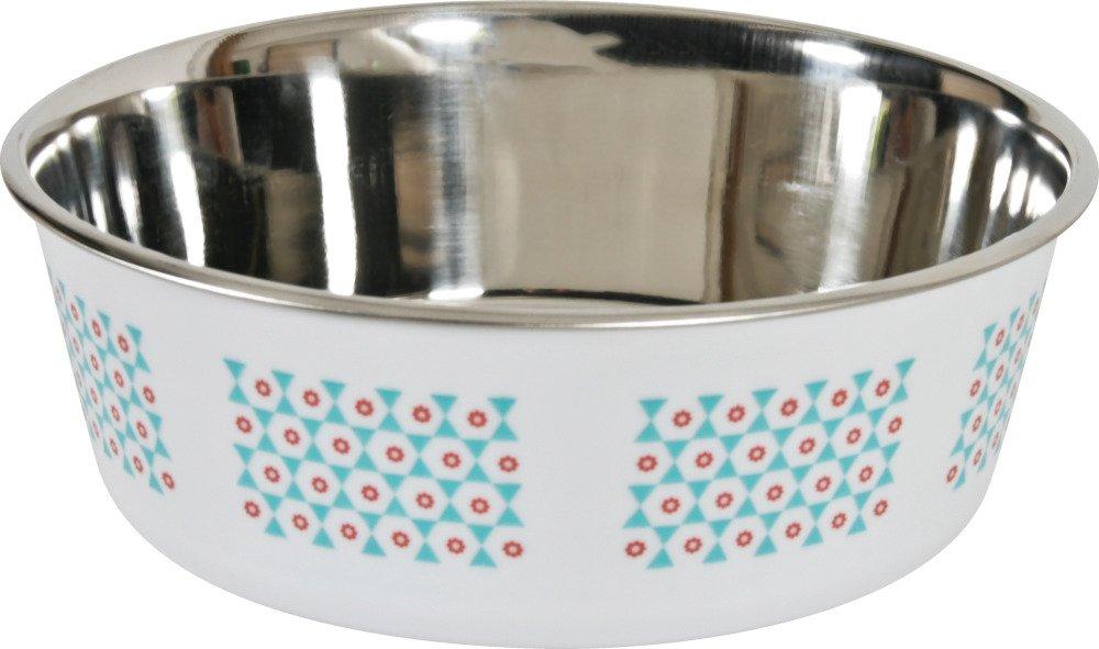 Zolux Yummy Ecuelle antiscivolo in acciaio inossidabile per cane turchese 1, 5L diametro 21cm 475520TUR