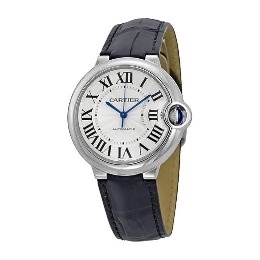 De la Mujer Cartier Ballon Bleu De Cartier Piel Banda Reloj automático W69017Z4: Amazon.es: Relojes