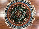 round India green rug