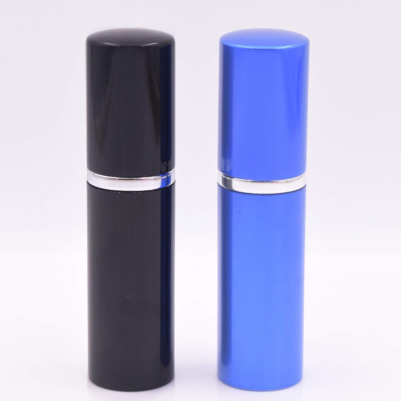 Dolovemk® 2pcs 10ml Portable Vaporisateur de parfum rechargeable bouteilles vides de voyage Vaporisateur Petit Parfum après-rasage Oxyde d'alu Coque en métal Spray bouteilles + Entonnoir les outils de recharge