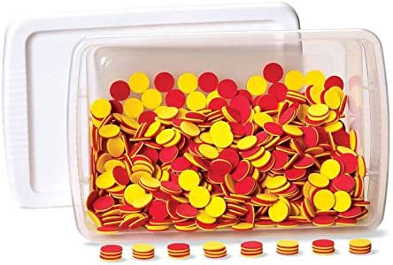 hand2mind Plastic Two-Color Counters Classroom Kit (Set of 1,000)