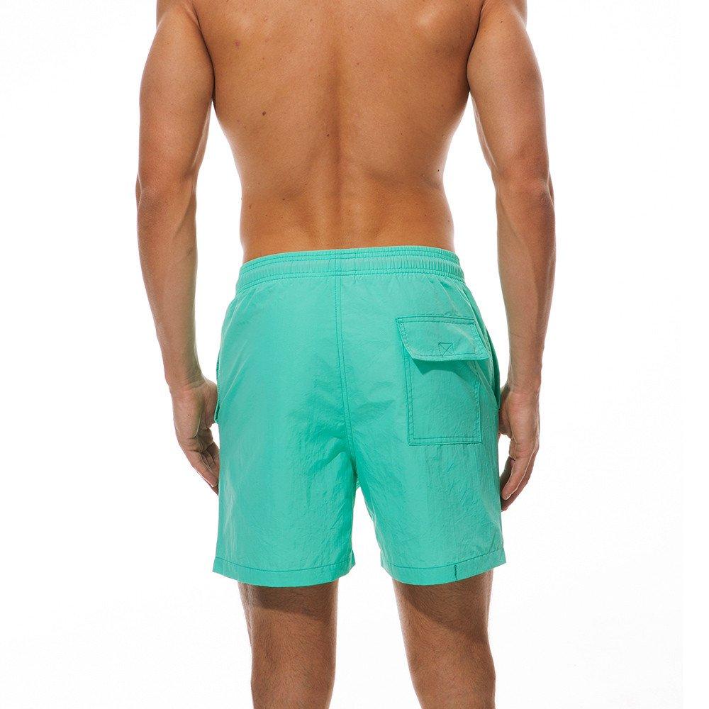 VPASS Pantalones Hombre,Verano Moda Pop Casuales Pantalones Ch/ándal de Hombres Jogging Fitness Gym Color s/ólido Pants Trend Deportivos Cortos Pantalones Pantalones de Playa Ba/ñador