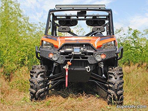Super ATV Polaris Ranger Fullsize 570/900 High Clearance Forward Offset A-Arms (Black)