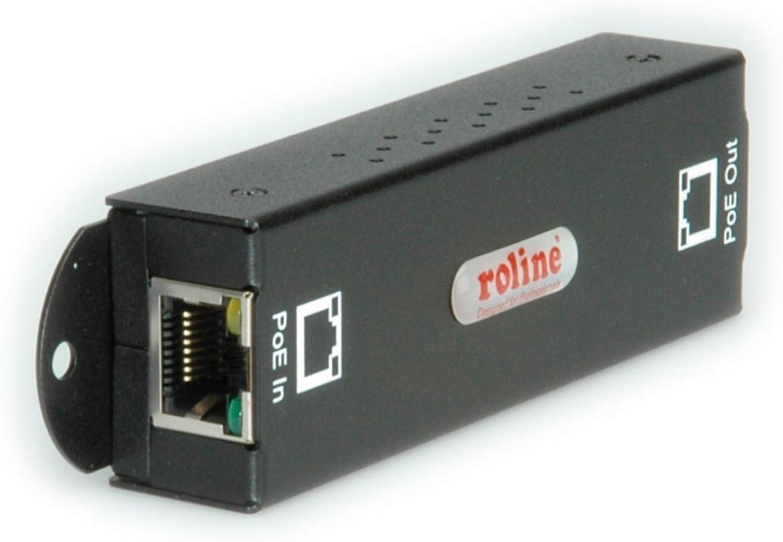 Roline 21131188 Gigabit Poe Extender Schwarz Elektronik