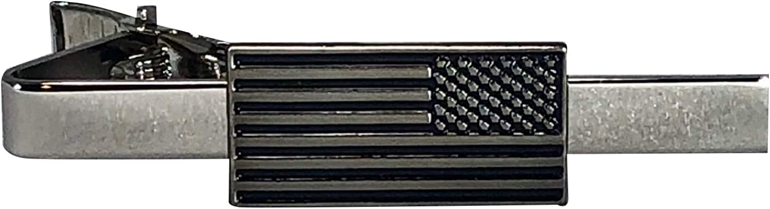 Assault Forward Reverse American Flag Tie-Clip - Patriotic Menswear Accessories - Military Gifts for Men - Veteran Owned and Made in US