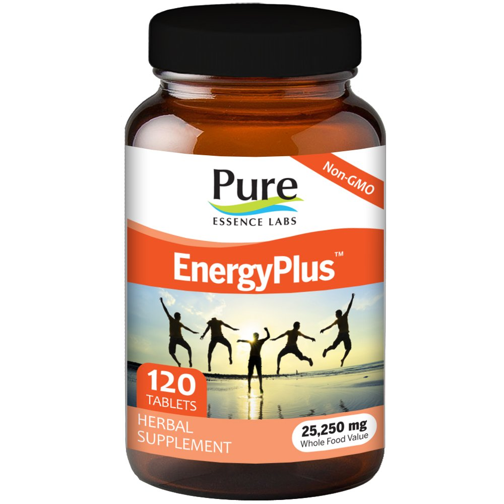 Pure Essence Labs EnergyPlus - Clean Lasting Energy For Body, Mind And Spirit - 120 Tablets