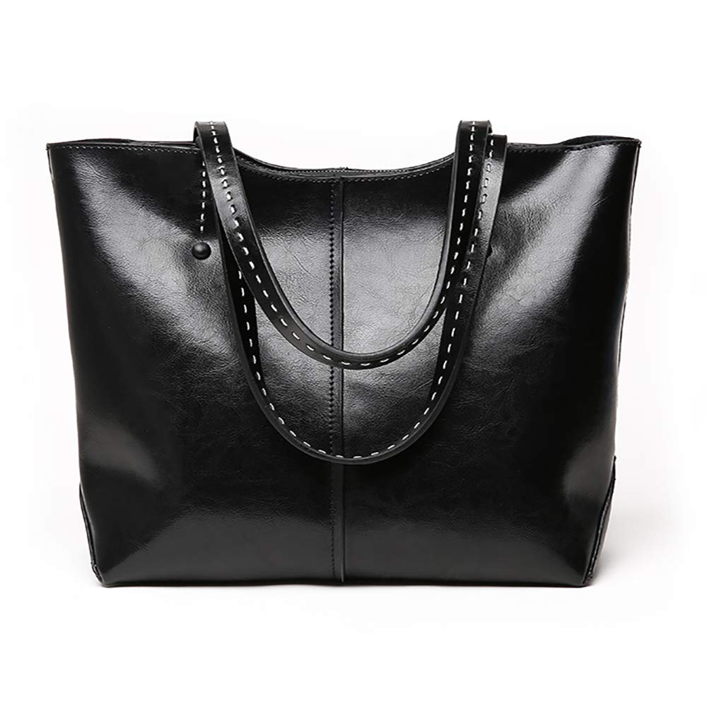 Large Tote Bags For Women Work Shoulder Handbags Faux Leather Travel Laptop Purse Black Brown