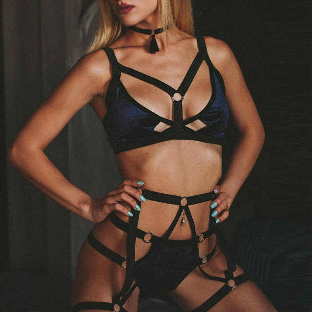 Lenceria Mujer Erotica Conjunto de lencería Lencería con Erotica De ... a5400ad32890