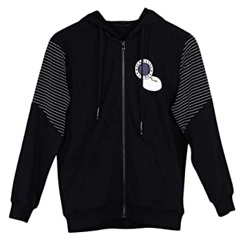 DAFREW Chaqueta con Capucha para Hombre, Informal y cómoda Sudadera con Capucha, Primavera y otoño Moda Zip Cardigan Coat (Color : Negro, Tamaño : 2XL): ...