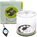 MPOWERD Luci Outdoor 2.0 - Inflatable Solar Light, Clear Finish, Adjustable Strap Bundle with Lumintrail Keychain Light