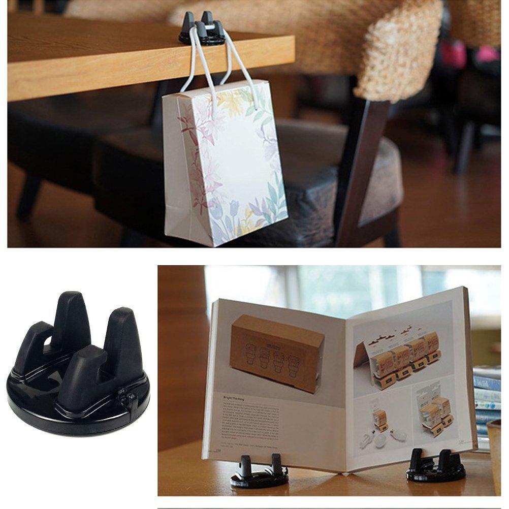 Noir VORCOOL V/éhicule mont/é Support de Support de Navigation de t/él/éphone Portable Support de GPS adh/ésif de Voiture de Silicone