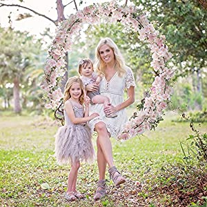 XYXCMOR Artificial Vines Silk Cherry Blossom Garland Fuax Hanging Flowers Fake Wreath for Indoor Outdoor Wedding Arch Party Wall Garden Home Patio Decorations 2pcs 5.9Ft Pink 2