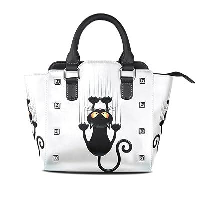 581e98532 Amazon.com: Womens Cat Paw Print Leather Handbags Purses Shoulder Tote  Satchel Bags: Shoes