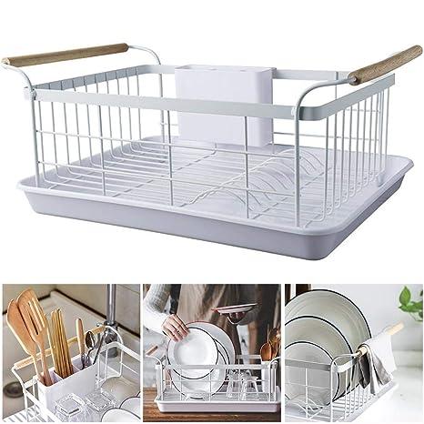 H-sunshy Escurridor de Platos de Cocina Secador de esponjas Fregadero Titulares de cestas Organizador