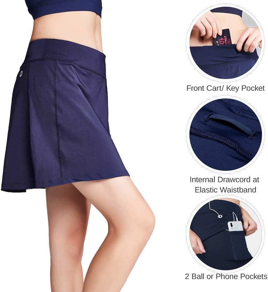 CAMEL Damen Rock mit Innenhose /& Tasche Leichte Shorts Tennisrock Active Athletic Skort f/ür Golf Laufen Sport und Training
