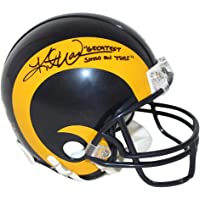 $235 » Kurt Warner Autographed St Louis Rams TB 81-99 Mini Helmet GSOT BAS 31132 - Autographed NFL Mini Helmets