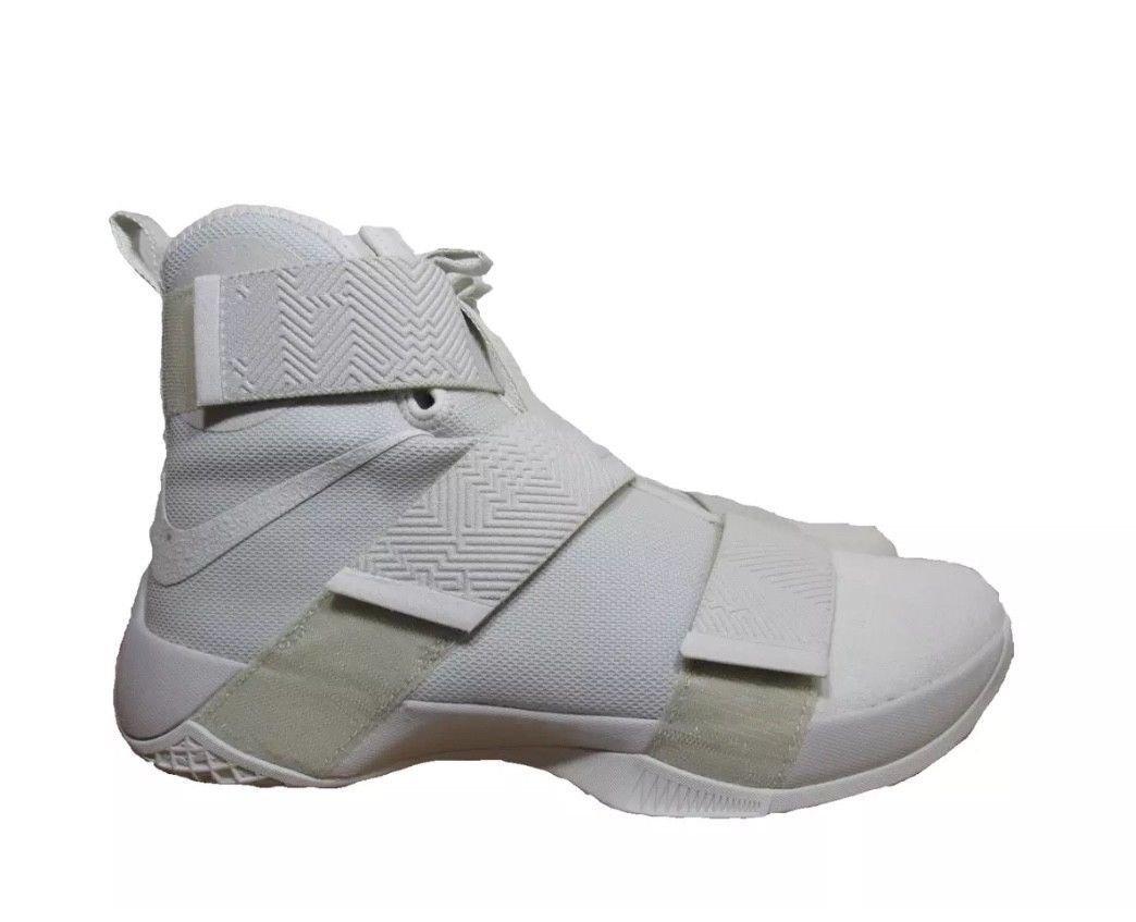 NIKE Lebron Soldier 10 Mens Basketball Shoes B073NFCD8C 10 D(M) US|Light Bone/Light Bone
