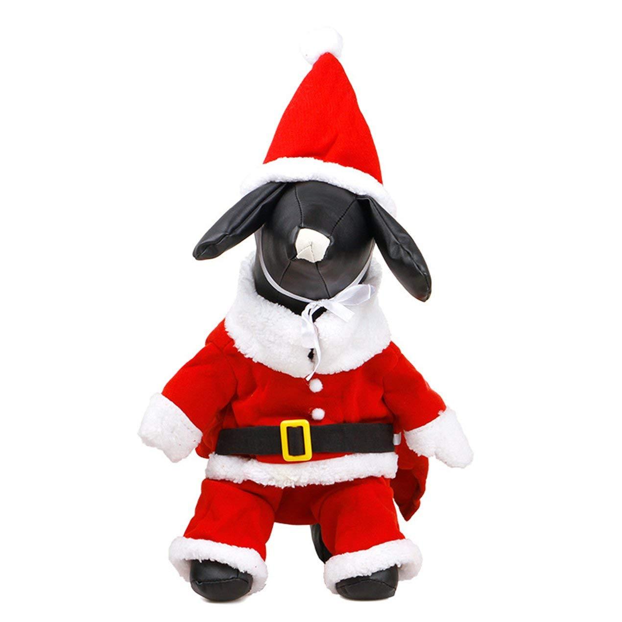 Dooret Weihnachtsmann verwandelte Sich in eine Hundekleidung Teddy Bear Herbst und Winter Party warme Haustierkleidung