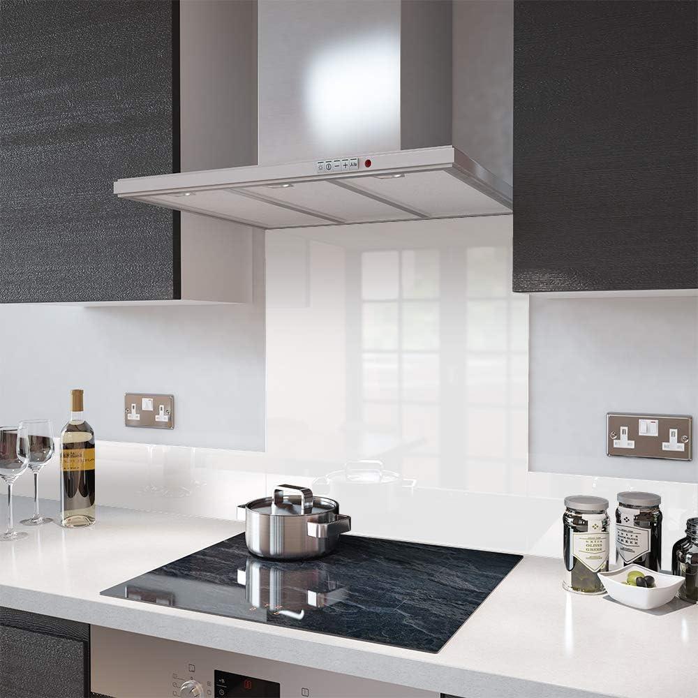 Glass Splashbacks High Gloss White - Made by Premier Range in 60cm Wide x 75cm High