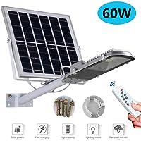 Farola solar LED para exteriores 60W-200W Luz de inundación Con mando a distancia IP65 a prueba de agua Luz de seguridad…