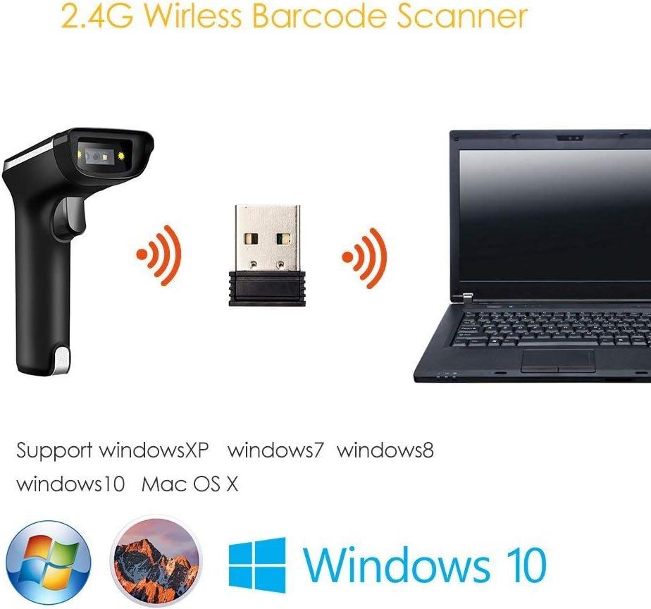 Bluetooth EY-015 Eyoyo Mini Lecteur Codes Barres Douchette Portatif Connexion USB Filaire 2,4 G sans Fil Scanner 1D 2D QR PDF417 Data Matrix pour iPad iPhone Android Tablettes PC