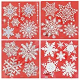 Snowflake Decorative Window Stickers, 25 Snowflakes