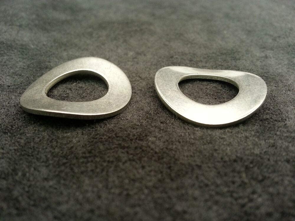 100 Pcs of 5//16 Stainless Steel Wave//Curve//Curved Washers A2 or 18-8 Stainless