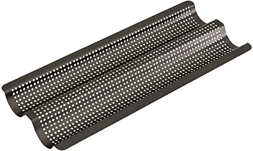 Bakemaster Baguette Tray Non-Stick Perfect Crust, Grey, 40107