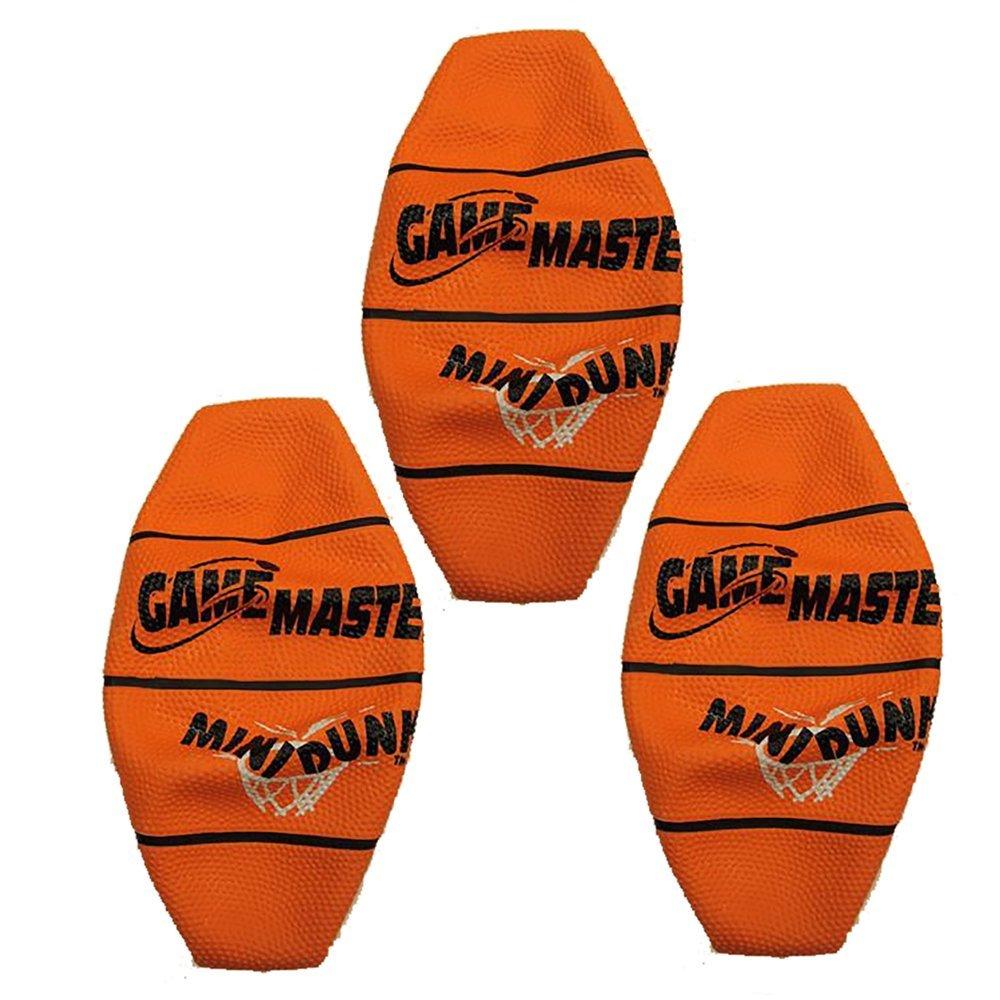 Mini Basketball 7 Inch Orange For Mini Dunxx Basketball Arcade Game - Set of 3