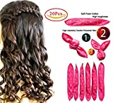 Hair Curlers, Flexible Foam Sponge Hair Rollers, Hair Styling DIY Tool, Sleep Hair Rollers for Long, Short, Thick & Thin Hair, No Heat Foam Hair Curlers for Woman & Girl - 20 Pcs