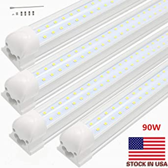 LED tubo de luz, 8 ft 90 W, doble fila integrada bombilla lámpara,