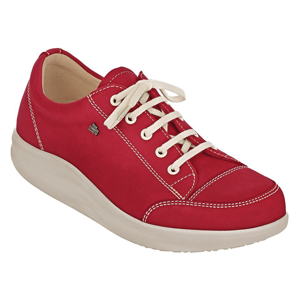 Finn Comfort Women's Ikebukuro Modern Fashion Sneakers, Red, Leather, 7.5 UK / 10 M US
